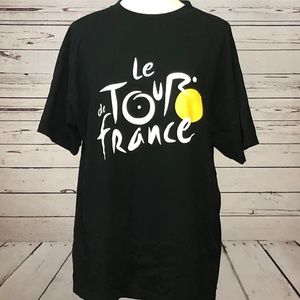 Tour de France Bicycling T Shirt Large Cycling S/S